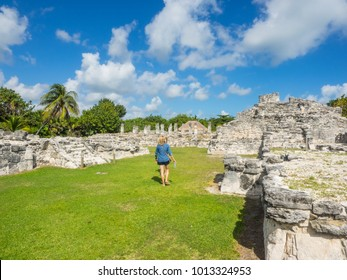 El Rey Ruins located in the Hotel Zone of Cancun is part of an important ancient Maya trade route.