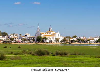 El Rocio small village landscape in Huelva, Andalusia, Spain