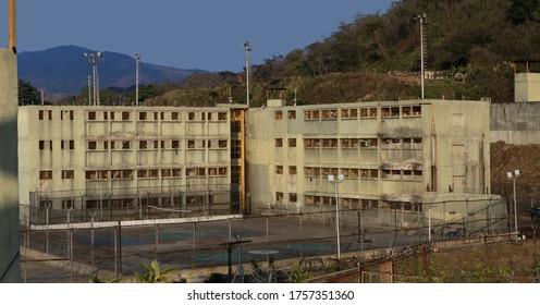 El Rodeo Estado Miranda, Venezuela April 4, 2020, Panoramic view of the rodeo prison structure, currently under a new prison regime