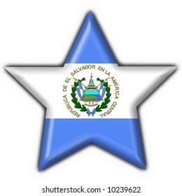 el salvador button flag star shape