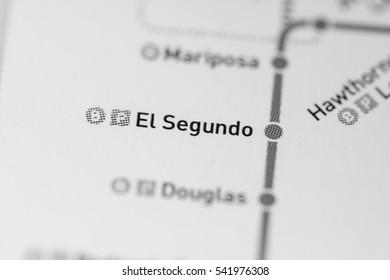 El Segundo Station. Los Angeles Metro map.