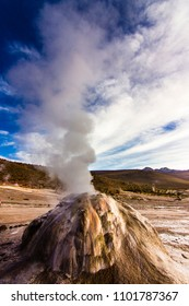 """""""El Tatio"""" Geysers at Atacama desert, amazing thermal waters at 4500 masl inside the Andes a place with an awe geothermal activity below the ground. Volcanic activity at Atacama , Chile"""