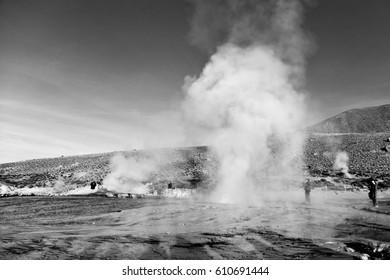 El Tatio geysers , near San Pedro de Atacama, Chile