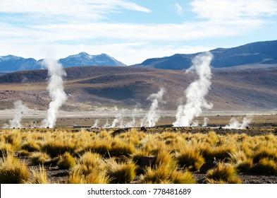 El Tatio Geysir in the Atacama Desert in Chile