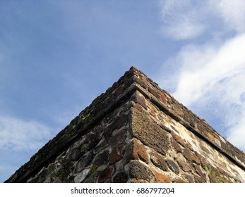 El Tepozteco. Archaeological site. Mexican state of Morelos. Small temple of Tepoztecatl, the Aztec god of alcoholic pulque. North America