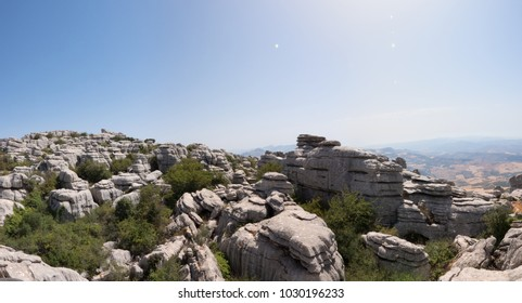 El Torcal de Antequera is a nature reserve in the Sierra del Torcal mountain range located south of the city of Antequera, Malaga, Spain. It's known for its unusual landforms and karst landscapes