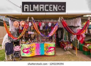 EL VALLE de ANTON, PANAMA - AUGUST 16, 2009: Shop stall.