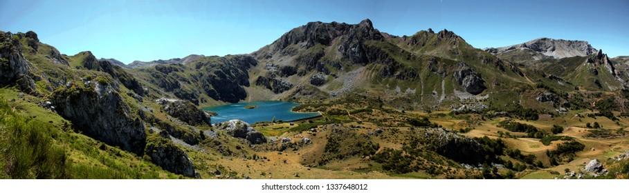 """""""El valle"""" lake in Somiedo in Asturias, north of Spain"""