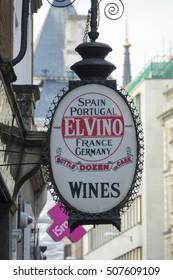 El Vino - International wines in London - LONDON / ENGLAND - SEPTEMBER 23, 2016