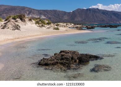 Elafonisi beach on the south-west coast of Crete, Greece