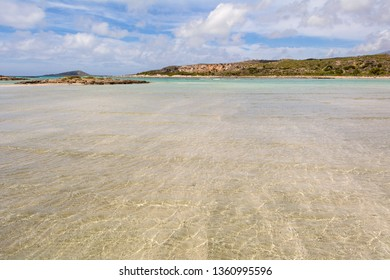 Elafonisi, one of the most famous beaches in the world with crystal clear water. Crete, Greece. Europe