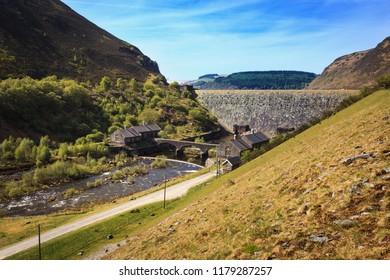 Elan Valley, Caban Coch Dam, Wales.