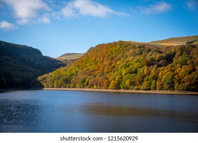 Elan Valley reservoir in autumn
