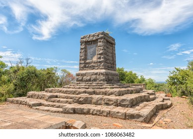 ELANDSLAAGTE, SOUTH AFRICA - MARCH 21, 2018: A monument at Elandslaagte, the site of a fierce battle during the Second Boer War in the Kwazulu-Natal Province