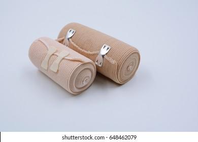 elastic bandage roll on white background