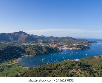 Elba island, panoramic view from above