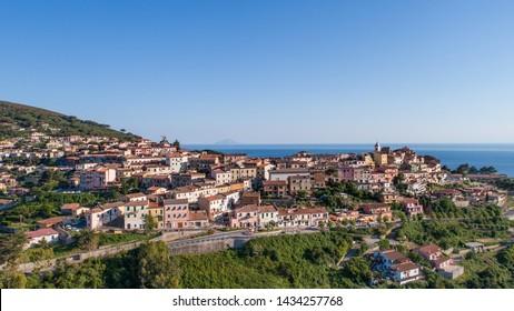 Elba Island, village of Capoliveri. Tuscany (Italy)
