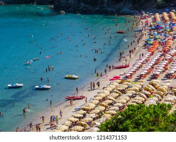 ELBA, ITALY - JULY 31, 2018: View of Fetovaia Beach on the Elba Island.