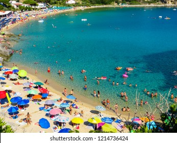 ELBA, ITALY - JULY 31, 2018: View of the Cavoli Beach on the Elba Island.