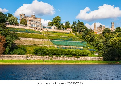 Elbe palaces in the valley of the Elbe in Dresden
