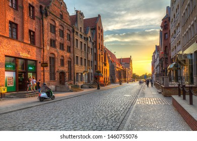 Elblag, Poland -  September 21,  2018: Architecture of the old town of Elblag, Poland. Elblag is a historical city in northern Poland.