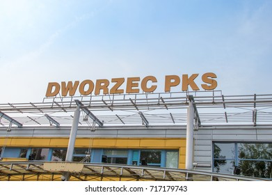 Elblag, Poland - September 9, 2017: PKS bus station in Elblag.