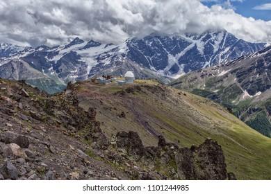 Elbrus region, a mountain landscape in the Caucasus region, Elbrus.