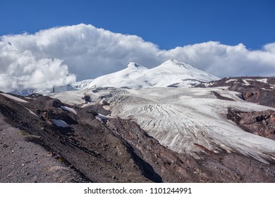Elbrus region, a mountain landscape in the Caucasus region, Elbrus.