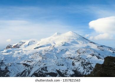 Elbrus region, a mountain landscape in the Caucasus region, Elbrus