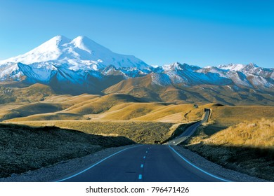 Elbrus region. Russia, Elbrus, the highest peak in Europe.