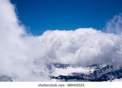 Elbrus. Winter. Snow.