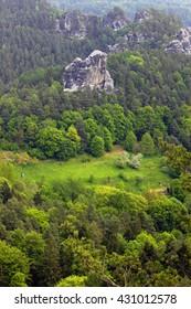 Elbsandteingebirge Saechsische Schweiz sandstone Saxony