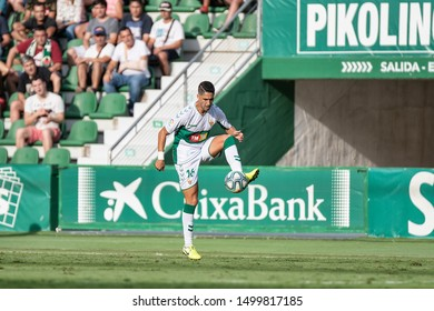 ELCHE, SPAIN - SEPTEMBER 8:  Fidel Chaves, Elche CF player in a match versus Lugo. Played in Martínez Valero Stadium on september 8, 2019 in Elche, Spain - Image - Imagen