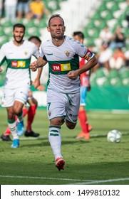 ELCHE, SPAIN - SEPTEMBER 8:  Nino, Elche CF player celebrates a goal. Played in Martínez Valero Stadium on september 8, 2019 in Elche, Spain - Image - Imagen
