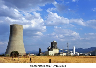 Elcogas thermal power plant for the production of electricity from the gasification of coal closed now, Puertollano, province of Ciudad Real, Spain