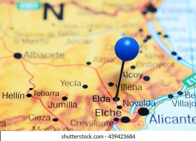 Jumilla Pinned On Map Spain Stock Photo Edit Now 439423699