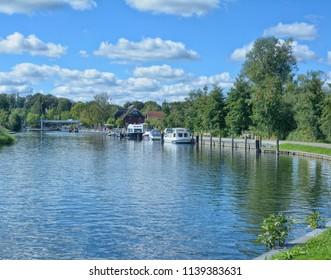 at Elde River in Plau am See in Mecklenburg Lake District,Germany