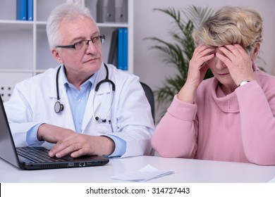 Elder woman is worried about money for her tablets