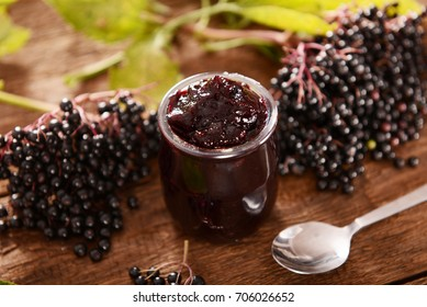 Elderberry fruit jam