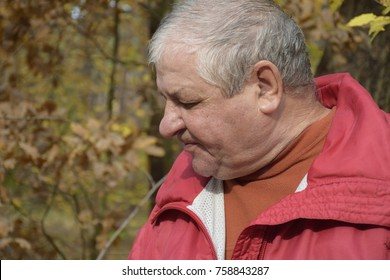 elderly caucasian man in a depressed state