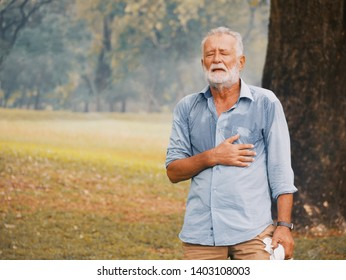 Elderly caucasian sweating and fainting.