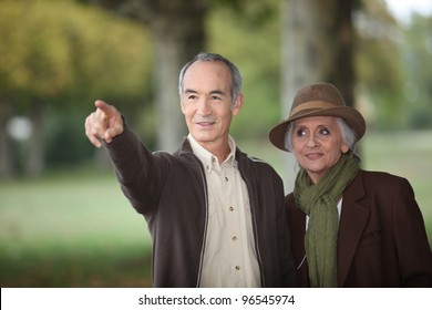 elderly citizen and his spouse