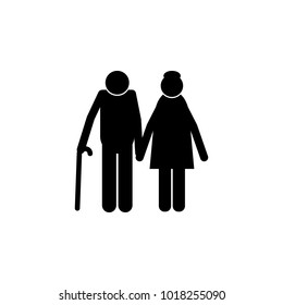 elderly couple icon. Element of a happy family icon. Premium quality graphic design icon. Signs and symbols collection icon for websites, web design, mobile app on white background