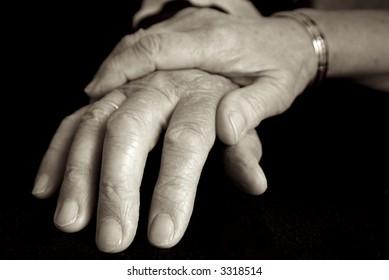 Elderly couple loving