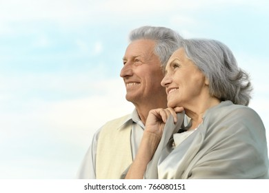 Älteres Paar entspannend