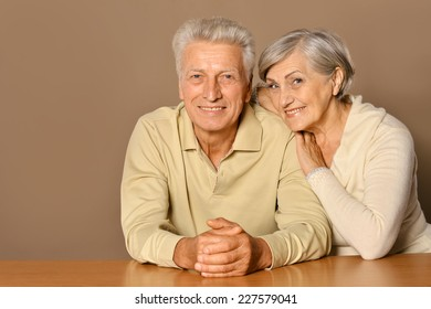 Elderly couple is resting and enjoying each other's company