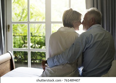 An elderly couple spending time together