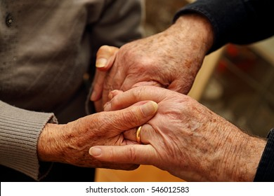 Elderly couple who give strength