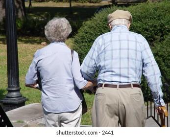Elderly folks.
