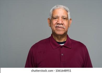 Elderly hispanic senior citizen man in a portrait